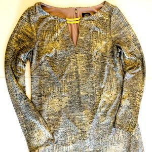 Vince Camuto Shimmery Gold Shift, Size 10, GUC